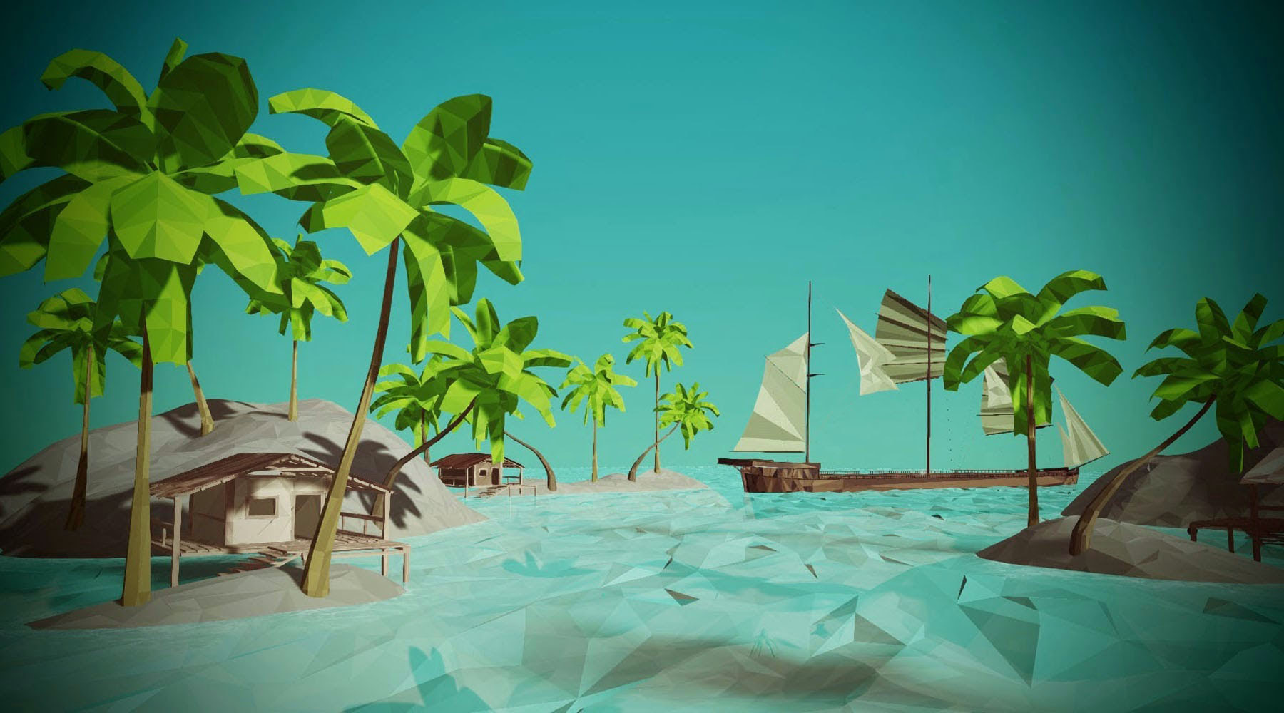 Players place vegetation on their planets in Traverse MMO Sandbox Low Poly Game
